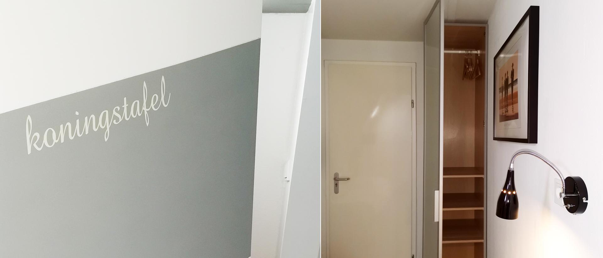 """Bed en breakfast Rhenen kamer """"Koningstafel"""" eenpersoons"""