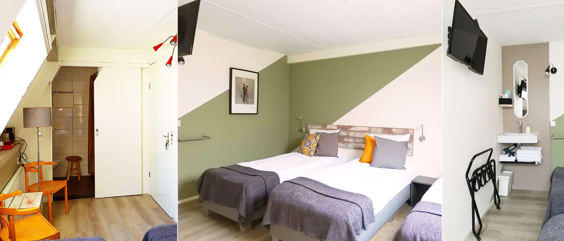 Spacious practical triple room in B&B in the Netherlands